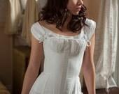 Regency Stays Regency Corset White Cotton Ready to Ship Historical Undergarment Underpinning Jane Austen Empire Napoleonic Style Corset