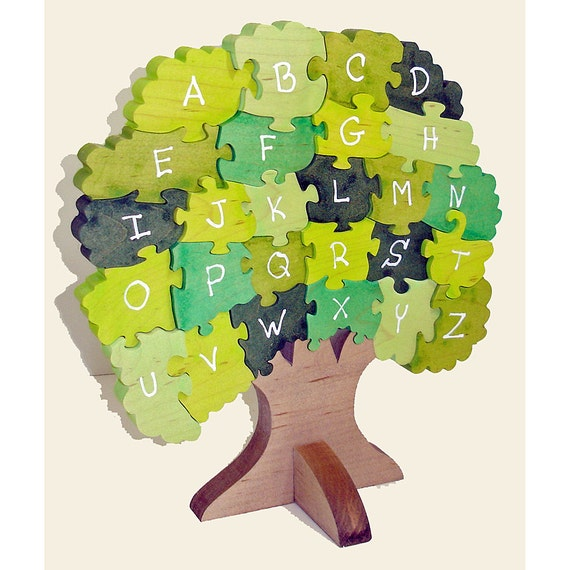 Children's Educational Wooden 3D Puzzle - Alphabet Tree