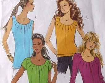 Butterick B5354 Misses,Misses Plus Size Tops Pattern,Loose Fitting,Pullover Tops Pattern Size 14,16,18,20