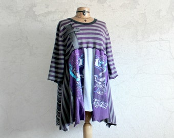 Boho And Goth Women's Plus Size Clothing Plus Size Sweater Purple