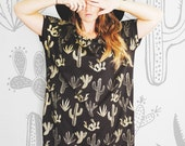 Golden Cactus - Big Tee tunic tshirt dress - American milled fabric - by Simka Sol®