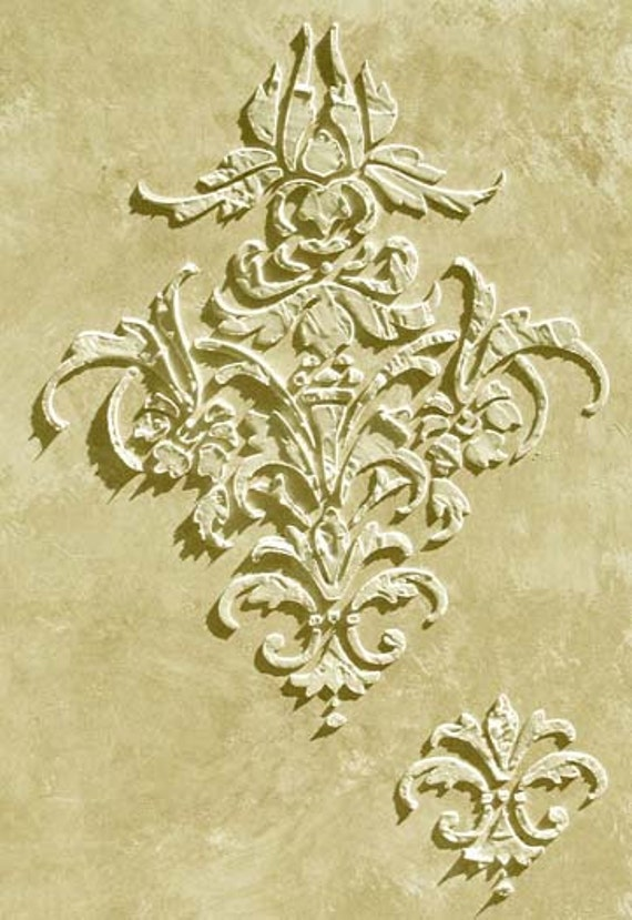 Raised Plaster Procitta Frieze Stencil Wall Stencil