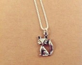 Fox Charm Necklace on .999 Fine Sterling Silver Chain, Lead and Nickel Free, Free US Shipping.
