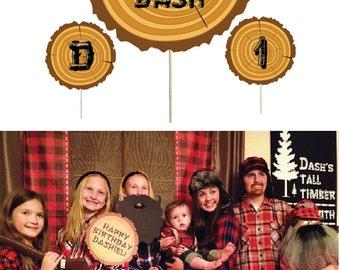 Lumberjack Photo Props. Lumber Jack Birthday Photobooth Props. Lumberjack Birthday