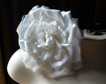 Ivory Millinery Rose for Bridal Sashes, Fascinators, Millinery MF