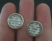 Cuff Links - Business Time - Flight of the Conchords Inspired Menswear - MADE TO ORDER - Funny Classy Quirky Wedding Gift for a F.O.T.C. Fan