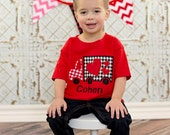 Personalized Valentines Day Truck Applique-Truck Applique-Valentine Heart Truck-Valentines Appliqued Shirt, LDM