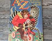 Vintage 1947 George Trimmer Unused Coloring Book ABC Animals NICE!