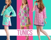 Personalized Beach cover up Tunic CLOSEOUT SALE