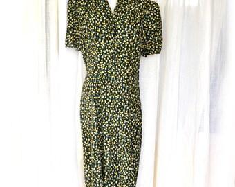 1940s Dress Jacket Outfit Handmade 30 Inch Waist