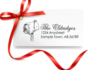 Personalized Custom Made Return Name return Address stamp R237