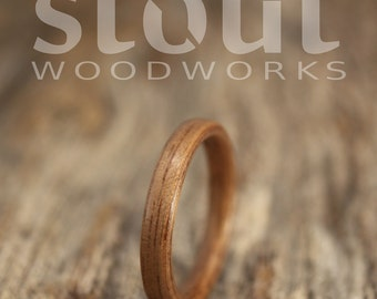SIZE 7.75 - Classic Walnut Bentwood Ring - Handcrafted Wooden Ring