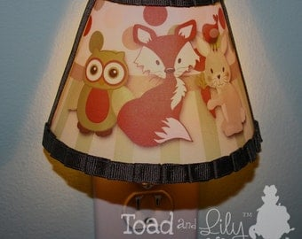 Forest Animal Woodland Friends Fox Owl Bunny Kids  Boys NIGHT LIGHT for Kids Bedroom Baby Nursery NL0017