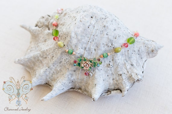 Cheery Flower Necklace