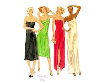 1970s Strapless Dress Pattern, John Kloss, Butterick 5704, Vintage Grecian Gown Sewing Pattern, Bust 31 1/2, Stretch Knits, Uncut