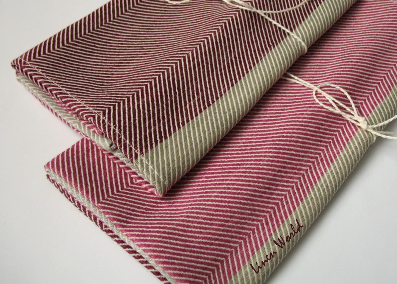 Set Of 2 Linen Dish Towels Linen Cotton Kitchen Towels