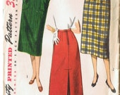 1950s Classic Pencil Skirt Pattern - Simplicity 4337  - 28 Inch Waist - VINTAGE