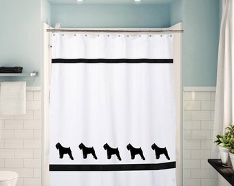 Bouvier Dog Shower Curtain in Your Choice of Colors- Bath Decor
