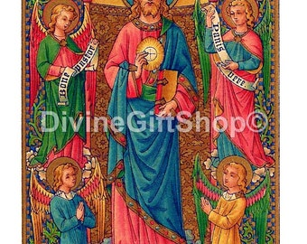 """Icon Christ The King image of The Jesus Christ as King. 5"""" X 7"""" Print. Gorgeous Print."""