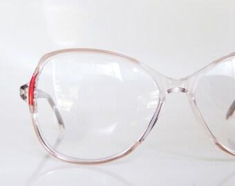SALE Red Eyeglass Frames 1960s Regency Tart Optical Eyewear Sunglasses Womens Ladies Ruby Crimson Blood 60s Sixties Mid Century Oversized