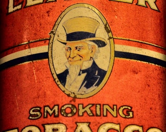 Smoking Tobacco Tin - Old Tin - Smoking Tobacco - Antique Tin - Antique Photography - Fine Art Photography