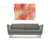 Abstract Digital Download Print Pink Red Yellow White DIY reproduction Modern Home Decor, Rush by Jessica Torrant