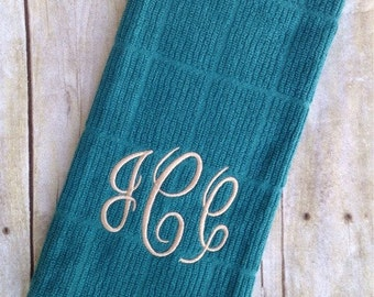 Monogrammed Dish Towel, Dish Cloth - Personalized
