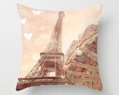 Paris Eiffel Tower Pillows Cover, Paris Throw Pillows, Baby Girl Nursery Pillows, Eiffel Tower Carousel Pillow, Paris Throw Pillows Decor