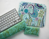 Matching Keyboard rest and / or WRIST REST for MousePads  - Pick your own pattern - mouse pad set coworker gift