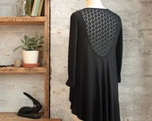 Sophia Lace Back Wool Cardigan - Black Cardigan - Open Cardigan - Lace Back Cardigan - Black Sweater - Long Cardigan