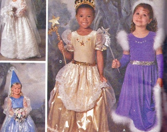 Simplicity 8424 Bride Princess Costumes Sewing Pattern by Donna Lang Designer (Girls 3-8) UNCUT