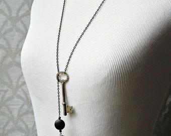Skeleton Key Lariat Necklace