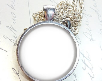 Four Templates - 1 Inch Round Trays Pendants on Chain