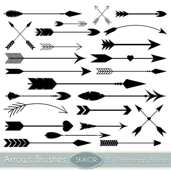 Arrows Photoshop Brushes Vector Arrow PS Brushes Tribal Arrows