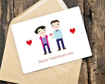 Custom Illustrated Valentine Card (Digital File)