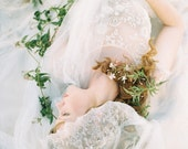 Bridal Veil, Mantilla Veil, Lace Veil, Wedding Veil, Ivory, Chapel Veil - Style 402