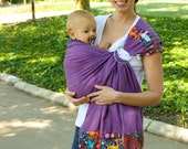 Baby Sling Linen Banded Ring Sling Baby Carrier - Fantasy Forest -Instructional DVD Included - FAST SHIPPING