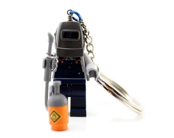 Welder Keychain - made from Series 11 LEGO® Minifigure
