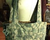 Steel Blue Teal Tapestry Tote Bag