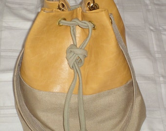 Yellow/Tan Grommet Bag