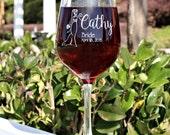 Set of 2 Bridesmaid Gift Wine Glasses