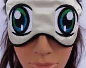Manga/Anime eye  satin embroidered sleep mask