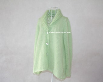 Cardigan jacket super kid mohair hand knitted FOR ORDER ONLY