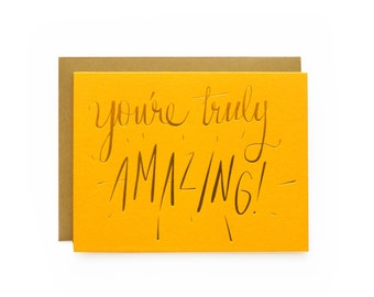 Truly Amazing! - letterpress card