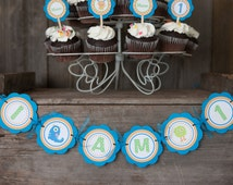 Monster First Birthday Banner -  I AM 1 MINI BANNER - Monster 1st Birthday Party Decorations - Little Monster Party - Lil Monsters Birthday