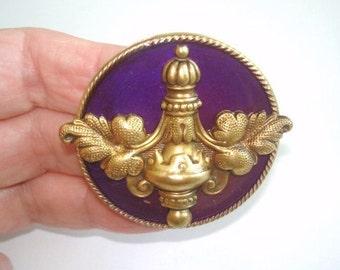 Brooch Lavender Gold Tone