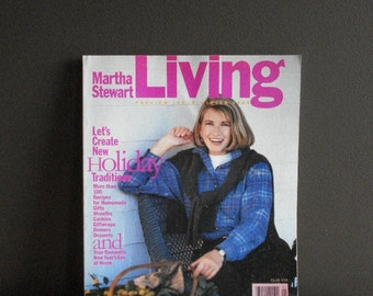 Martha Stewart Living Magazine - Premier Issue - Winter 1990 - FIRST MSL ISSUE