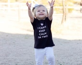 I Can't Keep Calm I'm Two Tee for Girl or Boy, Unisex, Hipster Kids Clothing