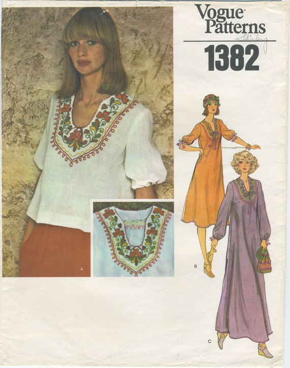 Vogue Peasant Blouse Pattern 10