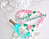 Happy Anniversary Cake Topper 8 Pieces